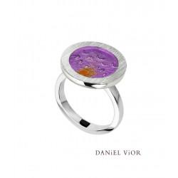 Anillo PULSIONS Esmalte violeta (Ag.925)
