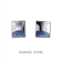 Earrings FER Blue enamel S (Ag.925)