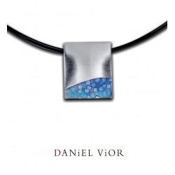 Pendant FER Blue enamel S (Ag.925)
