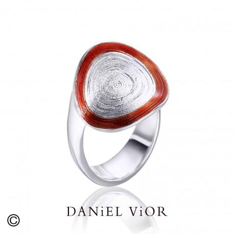 Ring CIRCIS Red enamel (Ag.925