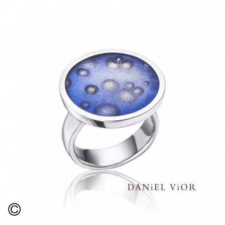 Ring NEBULOSA Violet Enamel (Ag.925)