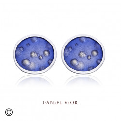 Earrings NEBULOSA Violet Enamel (Ag.925)