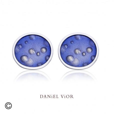 Earrings NEBULOSA Violet Enamel (Ag.925)