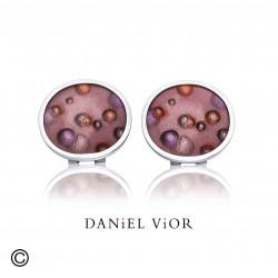 Earrings NEBULOSA Esmalt marró (Ag.925)