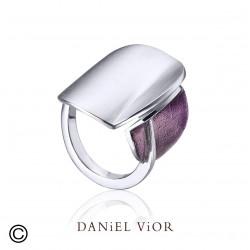 Anillo DILEDRA I Esmalte violeta S (Ag.925)