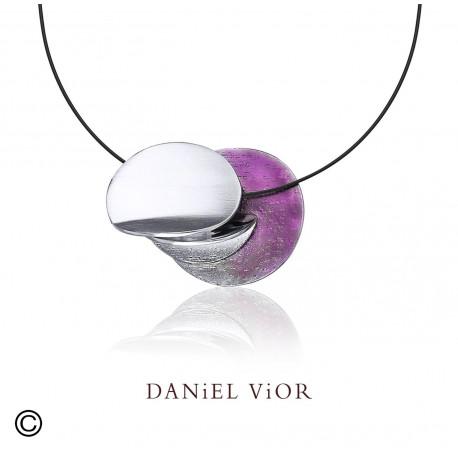 Colgante DILEDRA I Esmalte violeta S (Ag.925)