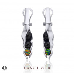 Earrings VAINA Onyx (Ag.925)