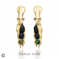 Earrings VAINA Onyx (Ag.925/Au 5 mic.)