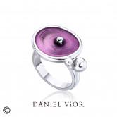 Anillo DROPS Esmalte violeta (Ag.925)