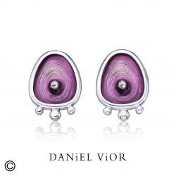 Pendientes DROPS Esmalte violeta (Ag.925)