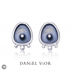 Earrings DROPS Blue enamel (Ag.925)