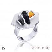 Ring NEIX Onyx Enamel (Ag.925)