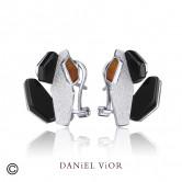 Earrings NEIX Onyx Enamel (Ag.925)