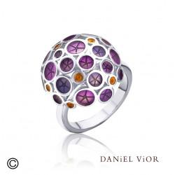 Anillo OANTOS Esmalte violeta (Ag.925)