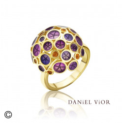 Anillo OANTOS Esmalte violeta (Ag.925/Au 5 mic.)