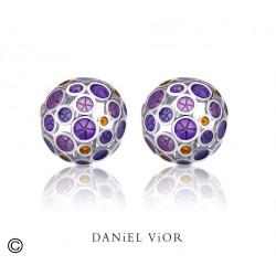 Pendientes OANTOS Esmalte violeta (Ag.925)
