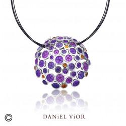 Colgante OANTOS Esmalte violeta (Ag.925)