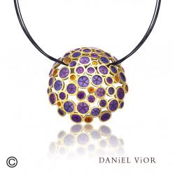 Colgante OANTOS Esmalte violeta (Ag.925/Au 5 mic.)