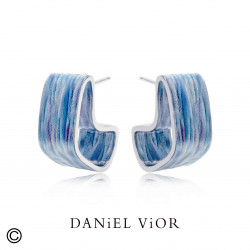 Earrings ROM Esmalte azul (Ag.925)