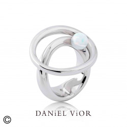 Anillo ORBIT Opalo sint.Blanco (Ag.925)