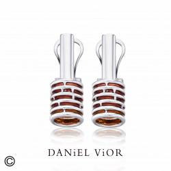 Earrings ANELLES Red Enamel (Ag.925)