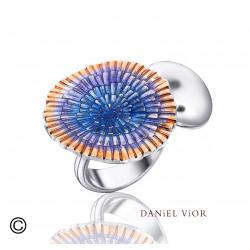 Ring BASIA SOLARIS Blue enamel (Ag.925)