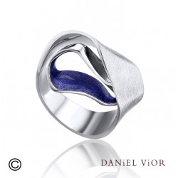 Ring SIPHO Blue enamel R (Ag.925)
