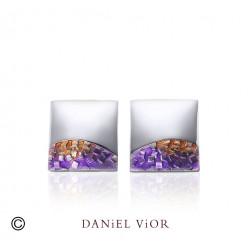 Pendientes FER Esmalte violeta (Ag.925)