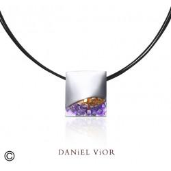 Colgante FER Esmalte violeta (Ag.925)