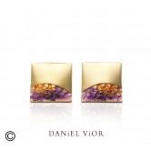 Earrings FER Violet enamel (Ag.925/Au 5 mic.)