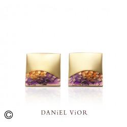 Pendientes FER Esmalte violeta (Ag.925/Au 5 mic.)
