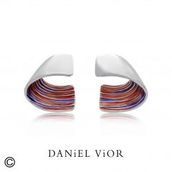 Pendientes GIR Esmalte rojo/violeta (Ag.925)
