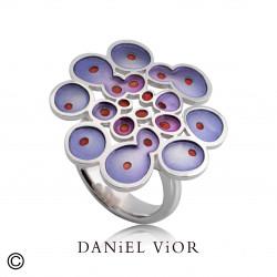 Anillo RUSC Esmalte violeta (Ag.925)