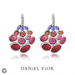 Earrings RUSC Garnet enamel (Ag.925)