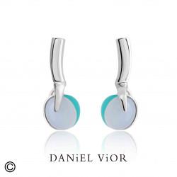 Earrings PRUNUS DIGITA Agate/Chalc./Synthetic Coral (Ag.925)