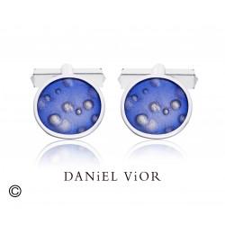 Cufflinks NEBULOSA Violet Enamel (Ag.925)