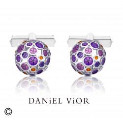 Gemelos OANTOS Esmalte violeta (Ag.925)