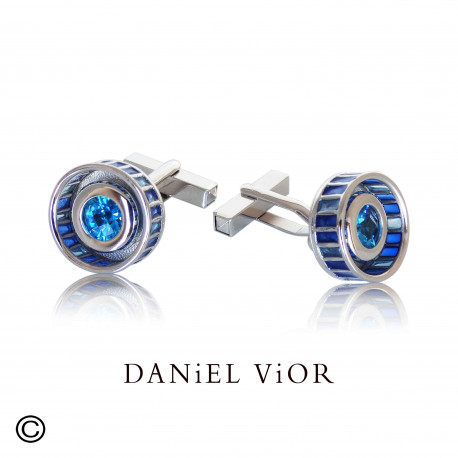 Earrings RODET Blue Topaz Enamel (Ag.925)