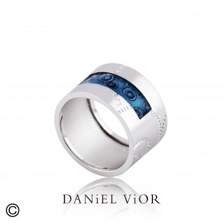 Ring NORIN Blue enamel S (Ag.925)