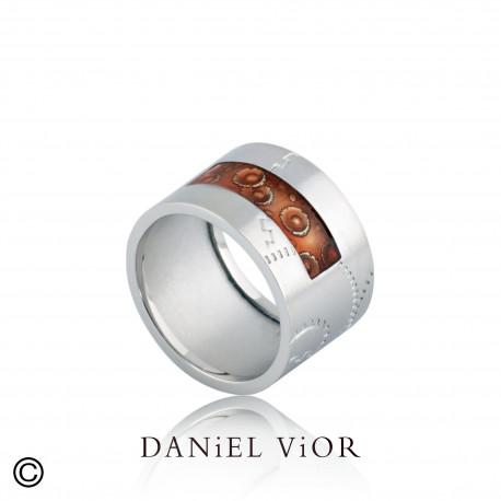 Ring NORIN Red enamel S (Ag.925)