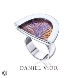 Ring CAPIL·LARS Violet/orange enamel (Ag.925)