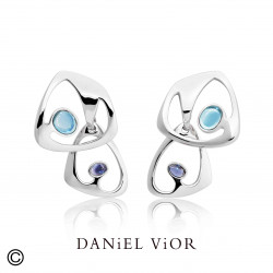 Earrings DILENDE Topaz (Ag.925)