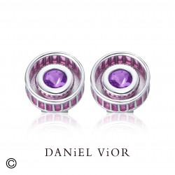 Earrings RODET Amethyste Enamel (Ag.925)