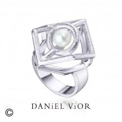 Ring CUB White Pearl (Ag.925)