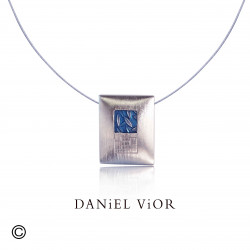 Penjoll FRONDA Esmalt blau S (Ag.925)