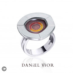 Ring NUCLI Brown/red enamel (Ag.925)