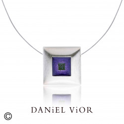 Penjoll SICRE Esmalt violeta/verd S (Ag.925)