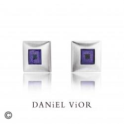 Arrecades SICRE Esmalt violeta/verd S (Ag.925)