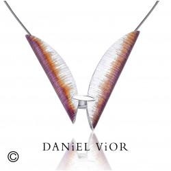 Pendant TAVELLA Violet/orange enamel (Ag.925)