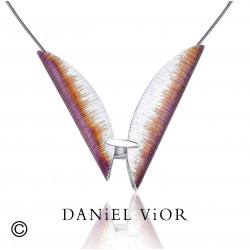 Penjoll TAVELLA Esmalt violeta/taronja (Ag.925)